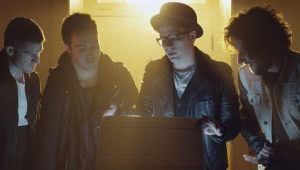 U.S. pop-punk icons Fall Out Boy in their music video