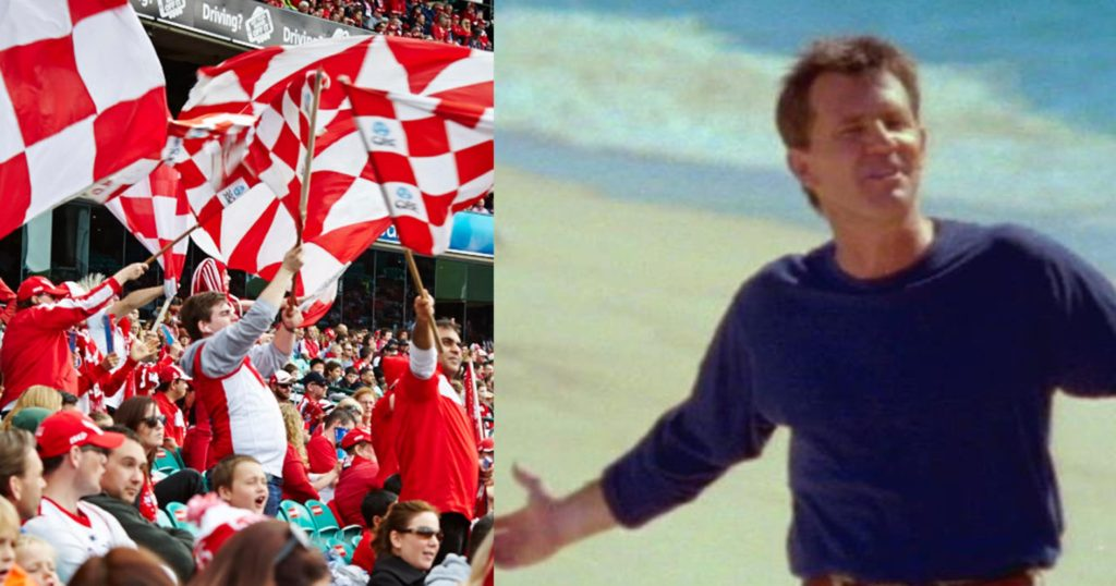 The Sydney Swans sung 'The Horses' instead of 'Sweet Caroline' last night, and Swans fans couldn't be more pissed