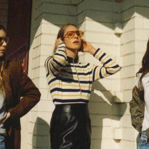The three members of Haim enjoy the sunshine