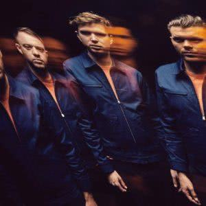 UK quartet Everything Everything, their faces distorted and echoed.