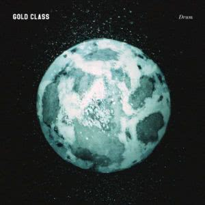 The album cover for Gold Class record Drum, bearing a stylised blue earth.
