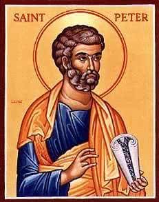 An icon of Saint Peter