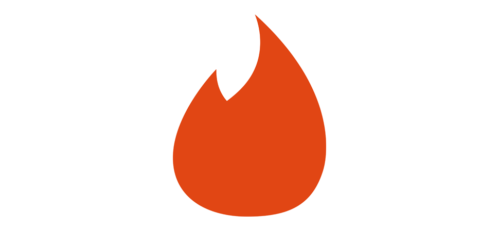 Logo for the dating app Tinder