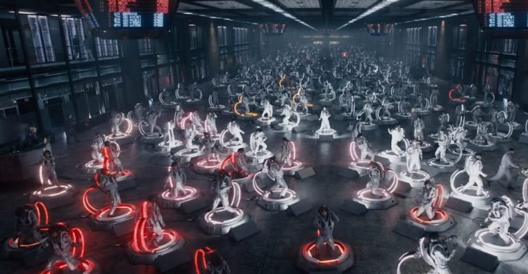 A scene from Ready Player One