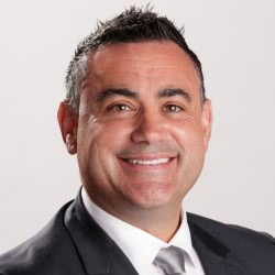 Deputy Premier John Barilaro MP on white background