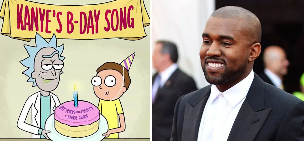Check out Kanye West's birthday song, as recorded by 'Rick And Morty'