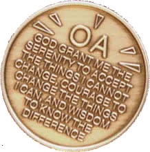 serenity-prayer OA on coin
