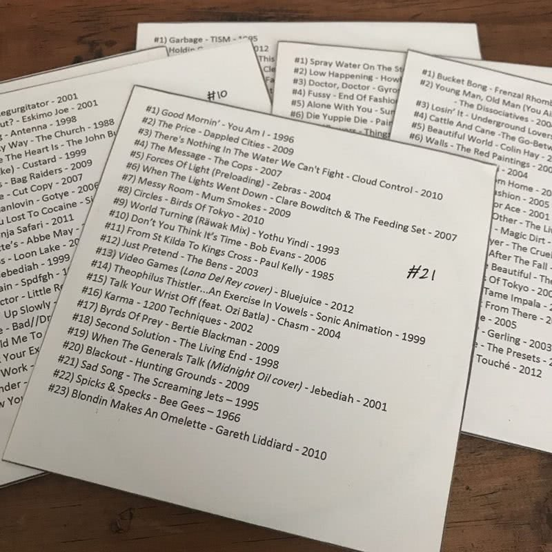 Image of the original, hand-made compilations I created