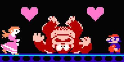 mario donkey kong peach love valentines video game