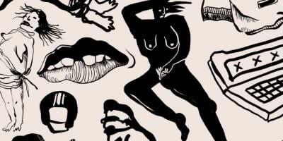 porn addiction illustration by Sara Hirner