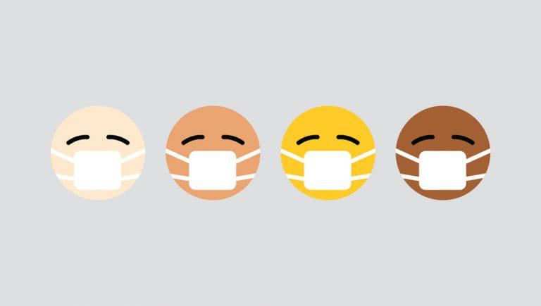 Emojis wearing Face Masks