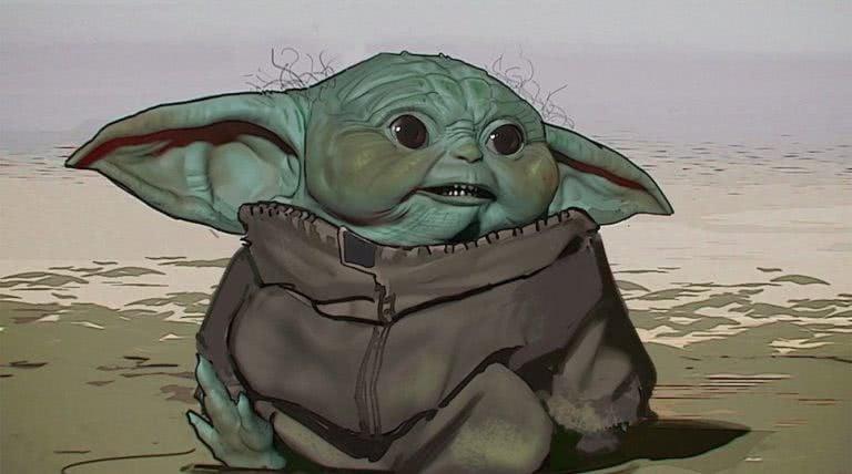 Baby Yoda early design