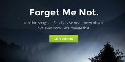 Forgotify Is The Ultimate Hipsters Guide To Spotify