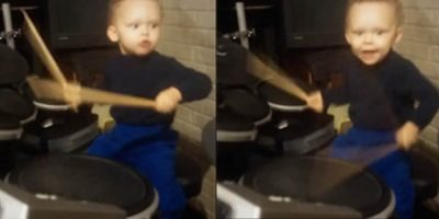 This 2 Year-Old Can Definitely Drum Better Than You