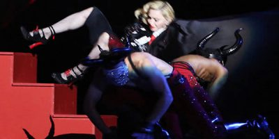 The Whole World Just Saw Madonna Fall Off Stage & It's Pretty Rough