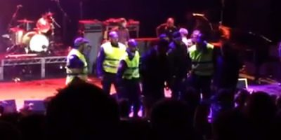 Police Storm Sydney Opera House Stage During Vivid LIVE Gig