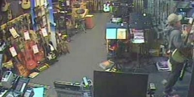 Do You Recognise The Thief Who Robbed This Aussie Music Store?