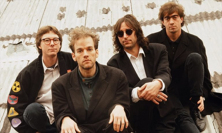 Alt-rock band R.E.M. pictured in the early '90s