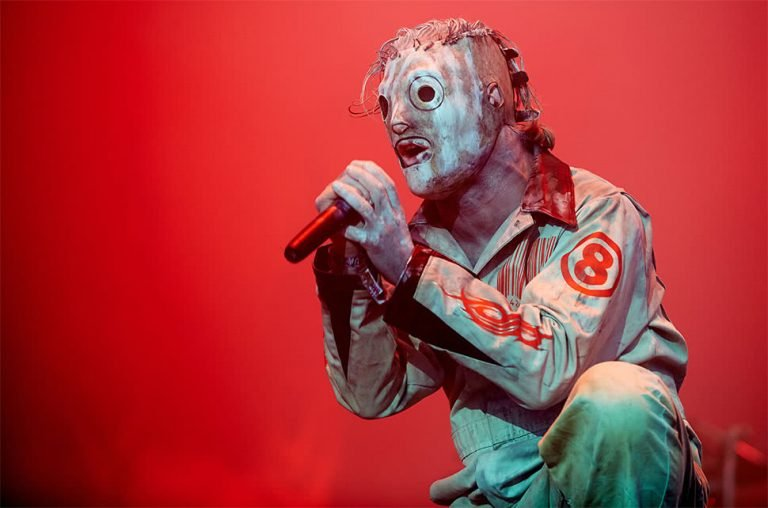 Corey Taylor of Slipknot performing live.