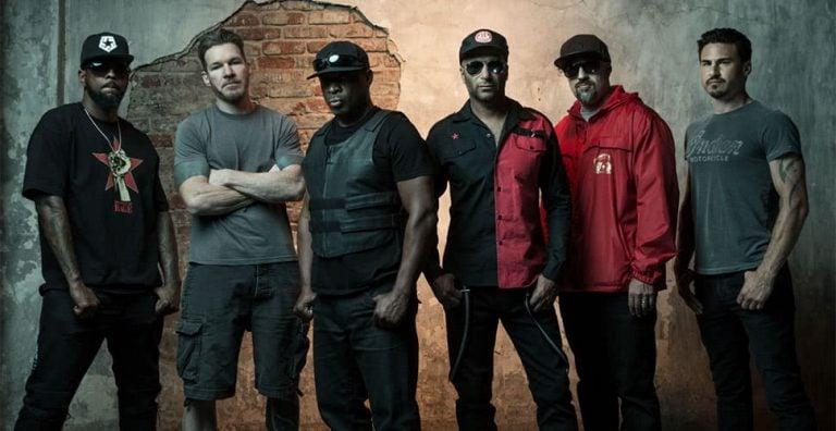 Members of US rap rock supergroup Prophets Of Rage