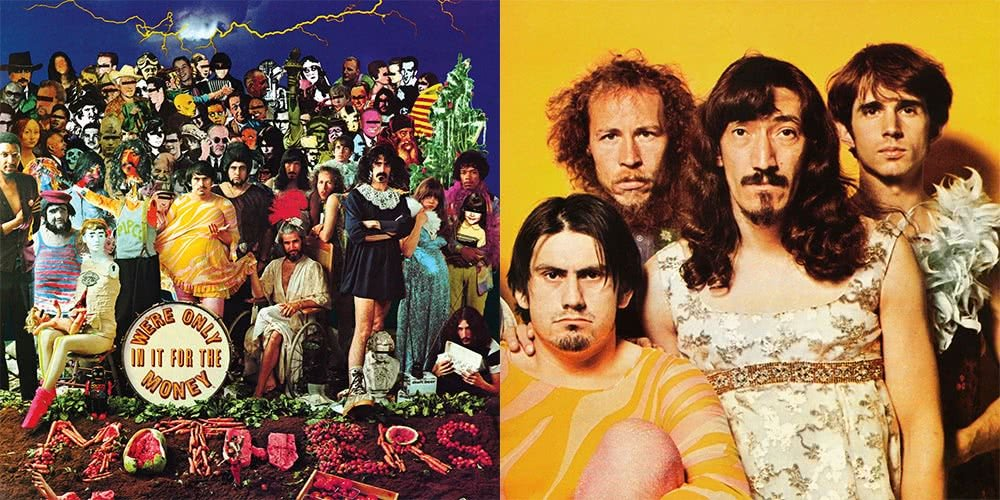 Uncensored and censored versions of The Mothers Of Invention's 'We're Only In it For The Money'