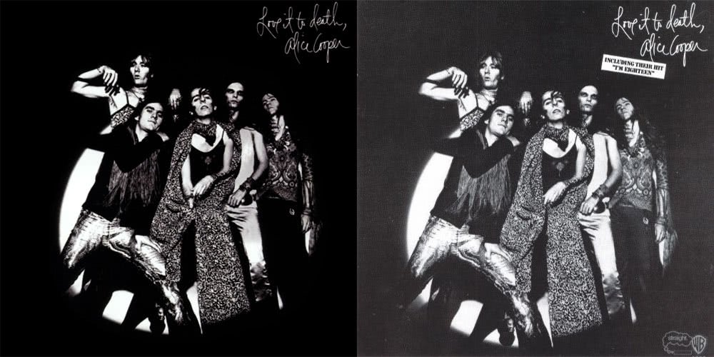 Uncensored and censored versions of Alice Cooper's 'Love It To Death'