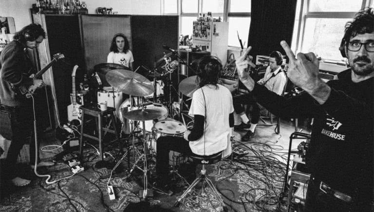 King Gizzard & The Lizard Wizard in the studio with Gareth Liddiard