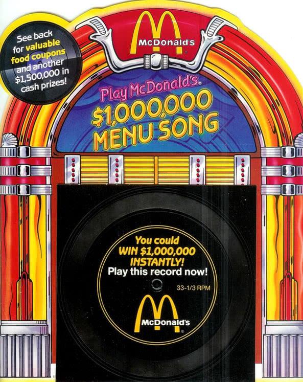 Image of McDonald's' infamous million-dollar record