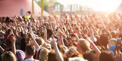 Image of a festival crowd, much like the one you'll see at Land Of Plenty