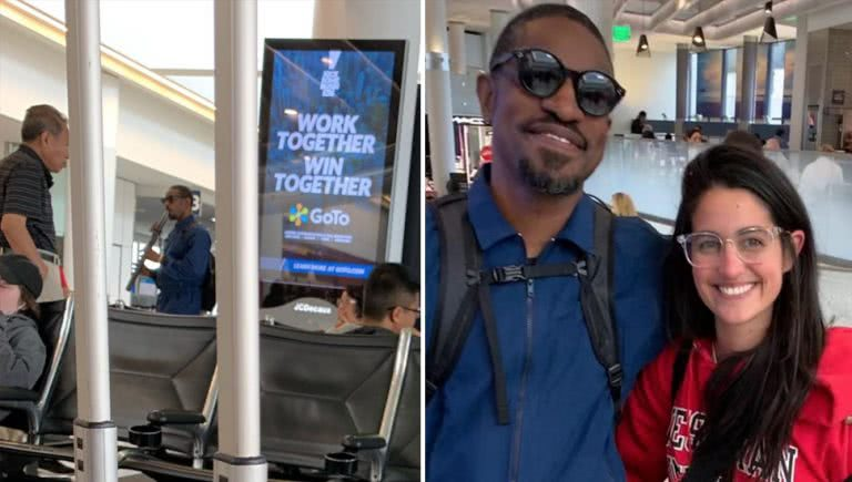Image of Outkast's André 3000 at Los Angeles International Airport