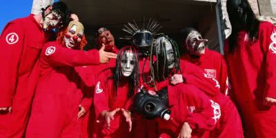 slipknot in red jumpsuits
