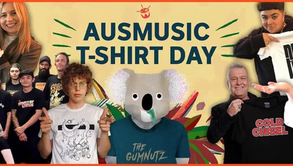 Support Act announces 2019 date for AusMusic T-Shirt Day