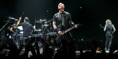 Metallica live on stage