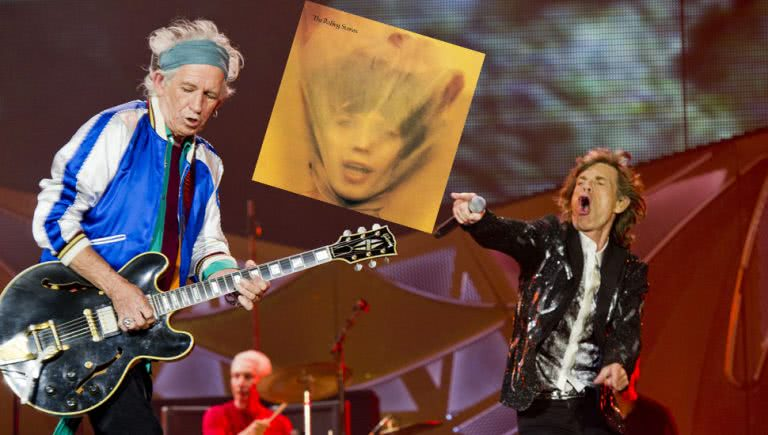 Image of rock legends The Rolling Stones with their album 'Goats Head Soup'