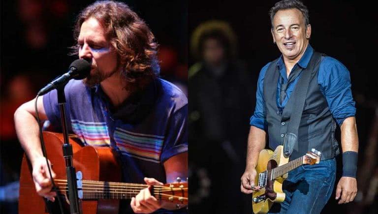 Eddie Vedder Bruce Springsteen
