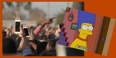 Custom image live concerts and Marge Simpson