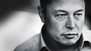 elon musk music streaming Tesla founder black and white