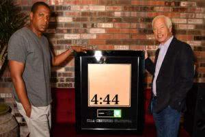 RIAA jay z 4:44 platinum cert plaque