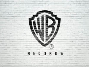 Warner bros records logo high res on brick wall