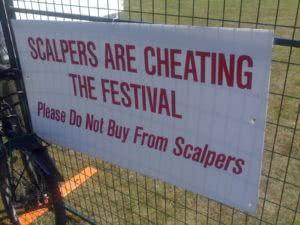 ticket scalpers resale website