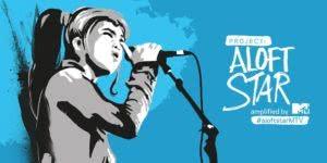 MTV asia project aloftstar blue background animated girl singing