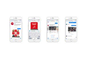 live nation facebook messenger bot iphone display on white background