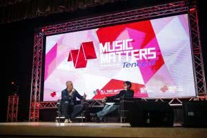 lyor cohen at 2017 music matters with Lars Brandle