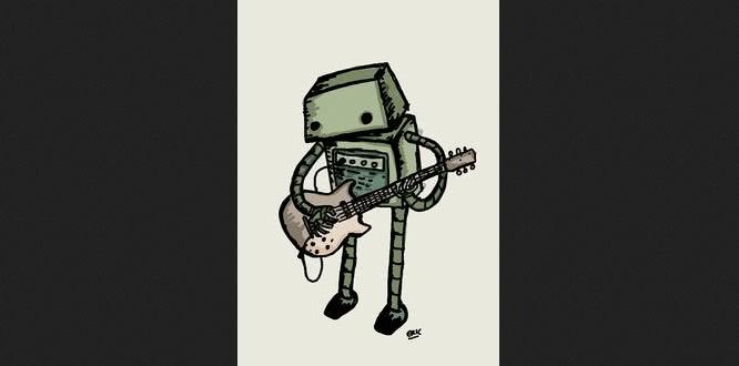 robot guitarist