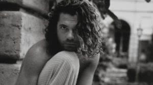 michaelhutchence circa 99 black and shite shirtless