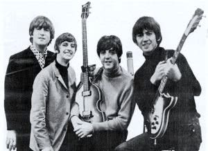 Beatles_ad_1965 black and white