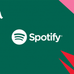 The logo for music streaming service Spotify