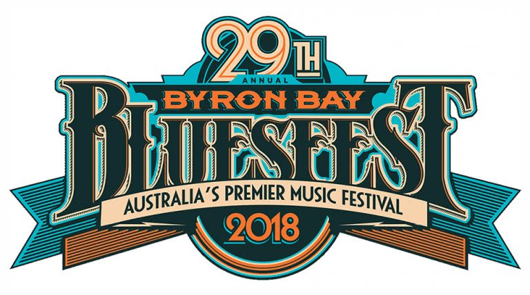 The logo for the 2018 edition of Bluesfest