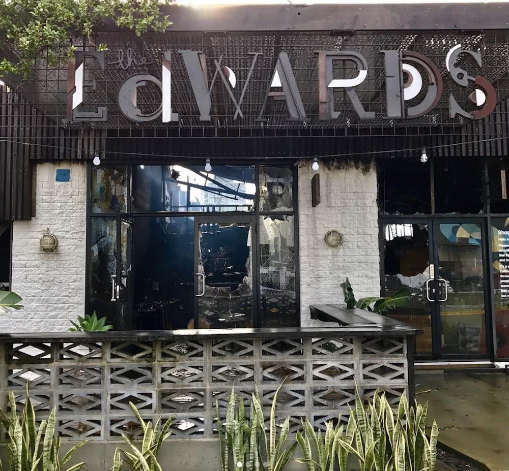 edwards bar burned down
