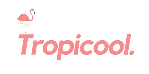 Tropicool_logo pink on white with flamingo